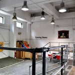 Interior foyer Bargehouse Gallery at London Olympics 2012