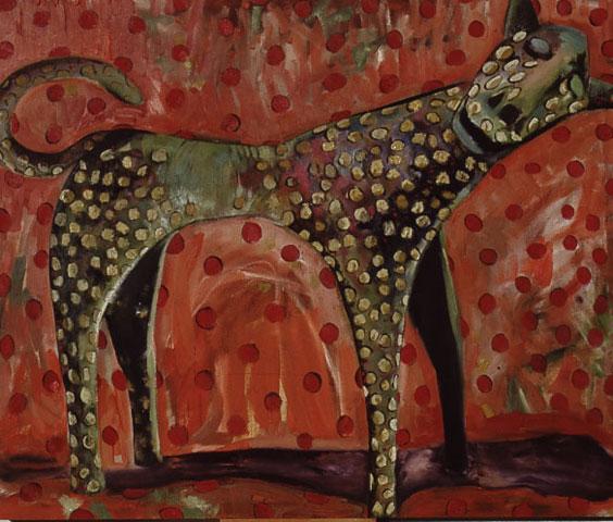 Painting, leopard