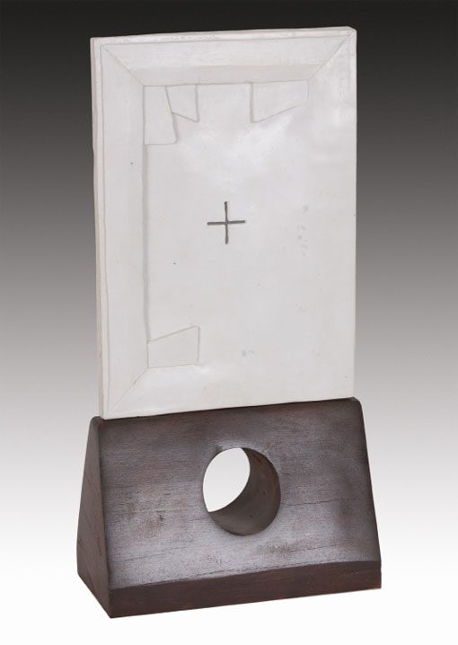 Sculpture - Resin, marble dust and red gum
