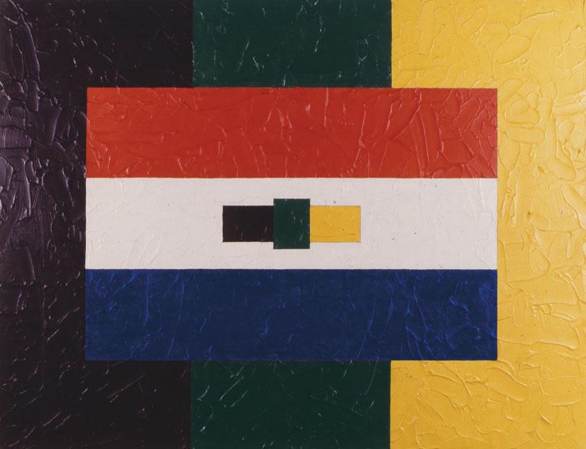 ANC/SA/ANC 1990, Acrylic on canvas 100 x 130 cm