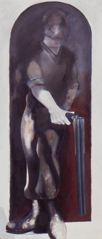 White Vigilante I 1989 Oil on canvas 180 x 75 cm