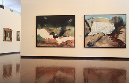 Paintings by Victor Gordon featured at the Drill Hall Gallery