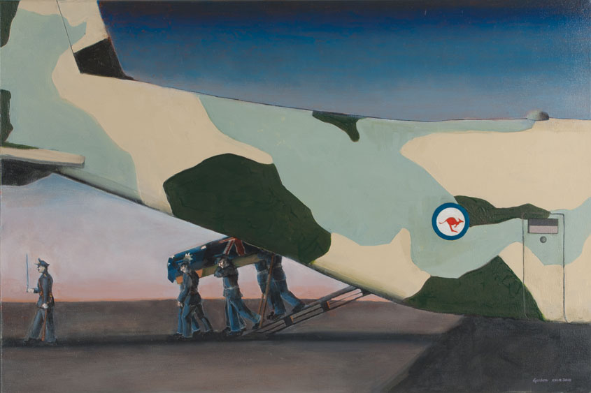 Painting by victor gordon, the futility of war