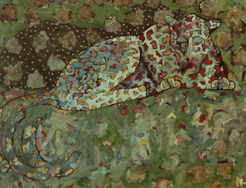 Leopard painting by Victor Gordon