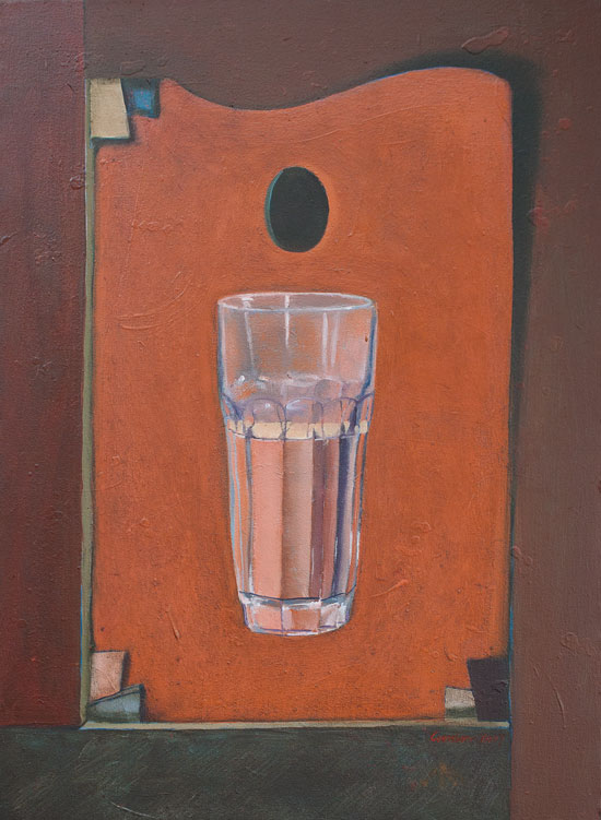 Glass half full painting by Victor Gordon