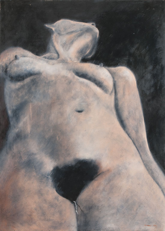 Painting of female torso by Victor Gordon