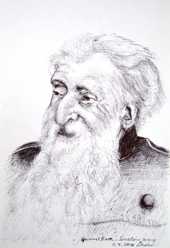 Pen drawing by Victor Gordon