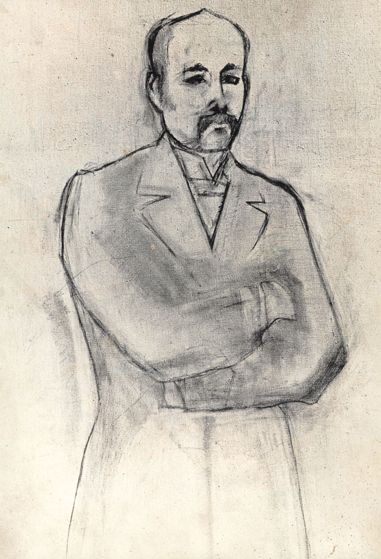 Pencil drawing ofter painting by Manet