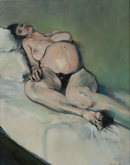Painting of a reclining nude