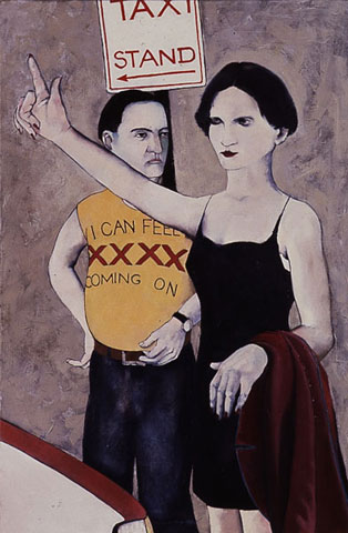 1989. Oil on canvas 920 x 610 mm, Taxi series